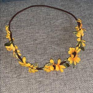 Claire's Sunflower crown headband